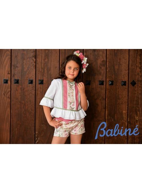 conjunto pantalon niña y camisa babine