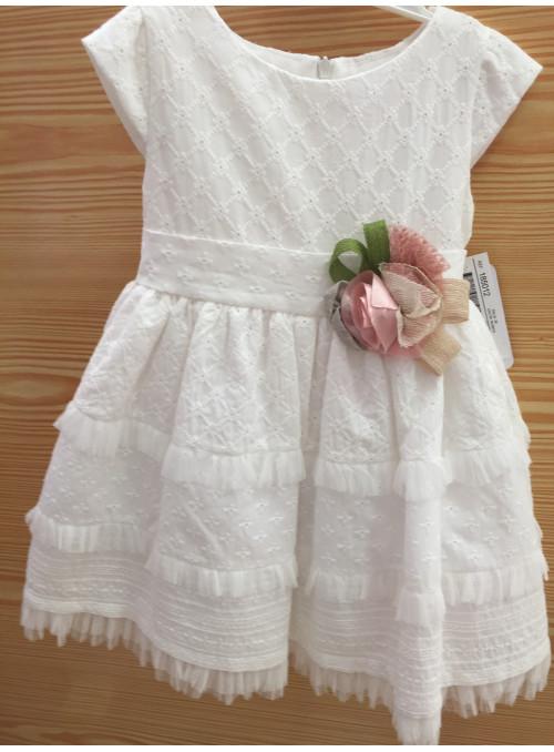 Vestido blanco ibicenco bordado