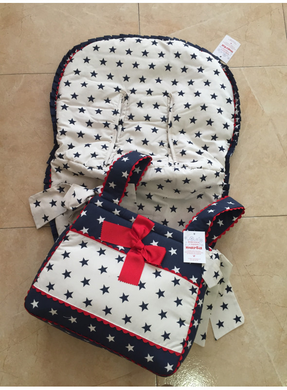 Conjunto estrellas funda silla universal + bolso