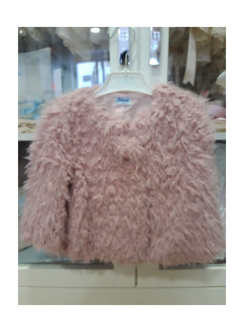 Abrigo niña pelo rosa empolvado