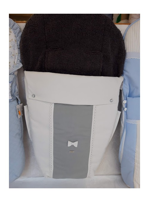 Saco silla polipiel marfil -gris universal